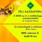 Kövessék online a TÉLI GAZDAFÓRUM 2021 mezőgazdasági témájú előadásainkat minden kedden és csütörtökön